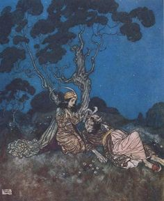 Beauty and the Beast from Classic Princesses by E. Nesbit, illustrated by Edmund Dulac. - The real original pin.