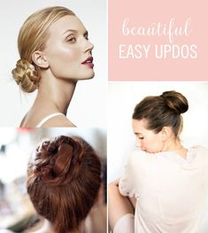 Here are gorgeous updos that are easy enough for you to manage on your own, but are still just as stunning as getting them professionally done! They are perfect for a formal wedding event or even just a casual day out with friends. These hair tutorials will help you get a beautiful updo without all the fuss.