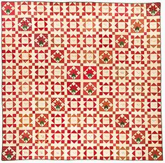 Mid-19th century from the Pat L. Nickols collection at the Mingei Museum via Civil War Quilts