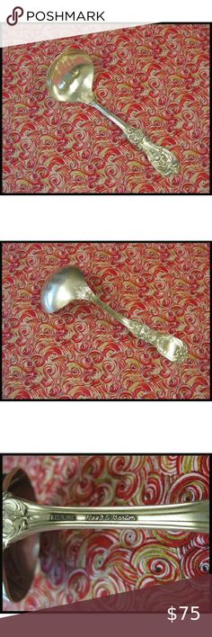 Eighteenth Century by Reed /& Barton Sterling Relish Scoop Custom Made 5 3//4/""