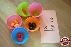 multiplication activity using jelly beans *math you can TOUCH and FEEL 06MTR14LC12