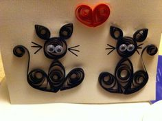 Chats en quilling