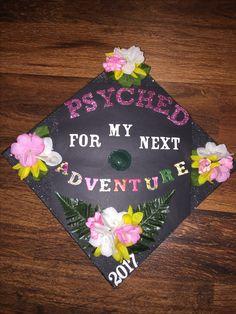 Psychology major grad cap decorated