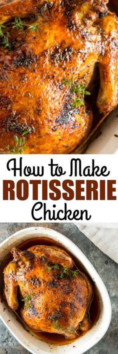 Learn how to make Rotisserie Chicken at home using a simple spice blend and a whole chicken or any combination of chicken pieces. via @culinaryhill