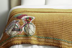 Bicycle Knitted Throw by Amity Home on http://OneKingsLane.com  - http://www.wocycling.com