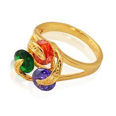 lyx aaa + cz sten cubic zirconia Ring 18k chunky guldpläterad hög qualiry  smycken gåva för a8afaa1e179d8