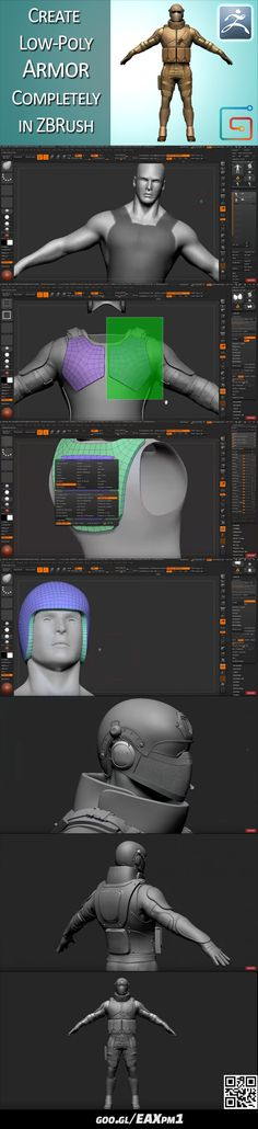 https://www.youtube.com/watch?v=beUxldDReAw #zbrush #armor #sculpt #tutorial