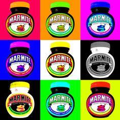 Marmite - can be used for vegan nutrition! This pop art by Chris Jones has been reproduced under Creative Commons Licence. Andy Warhol Pop Art, Pop Art Pour Les Enfants, Richard Hamilton, Pop Art Food, Pop Art For Kids, Dark Art Photography, La Marmite, Kids Canvas Art, Vegan Nutrition