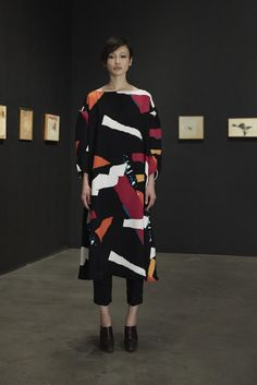Some Is Good, but More Is Better at Rachel Comey Fall 2014: At times, the excess came in oversize silhouettes at the Rachel Comey Fall 2014 presentation.