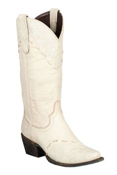 Lane Boots Jeni Lace Ivory Women's Cowgirl Boots - HeadWest Outfitters