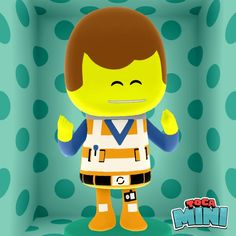 Emmett from Lego Movie. Made using toca mini app.  Everything is awesome! -nahsee