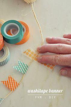 a spots': FVM . diy | washi tape banner