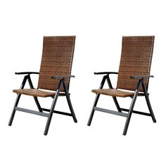 $159 Greendale Home Fashions Hand Woven Polyethylene Wicker Outdoor Reclining Lounge Chair