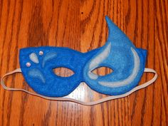 Water Skylander  Water Fairy Felt Mask or by OurCozyCreations, $12.00