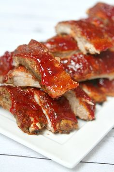 Slow Cooker Sriracha- Cranberry Baby Back Ribs Recipe @recipegirl