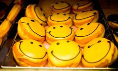 Smiley Face Donuts from Dunkin' Donuts in Peru.