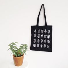 Stems Cotton Tote Bag by watersounds on Etsy, $14.00