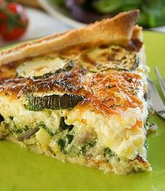 Great for a weekend brunch or a light dinner - no going wrong either way! Breakfast And Brunch, Breakfast Recipes, Zucchini Quiche Recipes, Polenta Recipes, Quiches, Quiche Lorraine, Bacon, Savoury Baking, Kids Meals