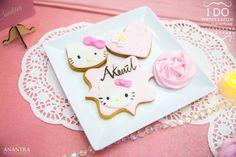 Hello Kitty Cookies from a Ruffled Hello Kitty Birthday Party on Kara's Party Ideas   KarasPartyIdeas.com (7)