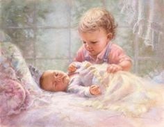 Kathryn Fincher~~ this reminds me so much of my cousin's two little ones