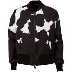 Neil Barrett Fur Print Bomber Jacket (€585) ❤ liked on Polyvore featuring men's fashion, men's clothing, men's outerwear, men's jackets, mens fur bomber jacket, mens fur jacket and mens leopard print jacket