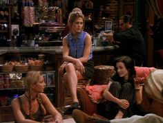 "All of Rachel Green's amazing outfits from the first season of Friends — ""JCPenney was having a denim sale."""