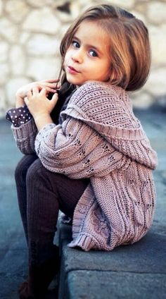 755b3f0be23f0 Super cute fall outfits with oversized cardigan for kids Mahmudi Mahmudi  Sezan ~ Looks almost like the cardigan we have from Brandy Melville