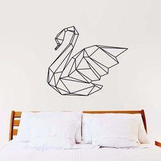 Geometric Swan Wall Decal - http://kitchenideas.tips/geometric-swan-wall-decal/