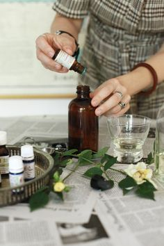 "Provides links to (1) a site that tells you which oils/scents do what; and (2) a site that tells you how to match your favorite commercial perfume.  Fabulous! :o)  ""Small Measures: Homemade Eau de Perfume 