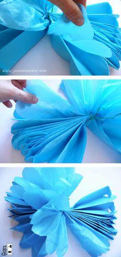 Arte Color: Flores de Papel Seda, Papel China o Papel Crepé