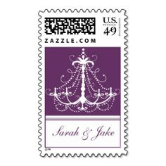 Purple Chandelier - Template Postage. This great stamp design is available for customization or ready to buy as is. Of course, it can be sent through standard U.S. Mail. Just click the image to make your own!