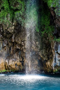 Freshwater Waterfall falling into Aegean Sea, Oludeniz, Turkey (by Dave learns his Dig SLR?)