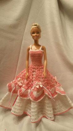 Crochet Barbie Dress, Crochet Barbie Doll Clothes, Fashion Doll Crocheted Clothing by GrandmasGalleria on Etsy