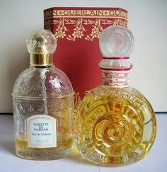 """Guerlain Voilette de Madame, meaning """"Madame's Veil."""" Developed by Jacques Guerlain and Introduced in 1904. Companion to Mouchoir de Monsieur or """"Gentleman's Handkerchief."""" Reissued in 2005. Discontinued. Very rare and expensive. Source: Monsieur Guerlain blog."""