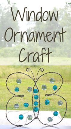 Tutorial for a fun window ornament craft - perfect for older kids!