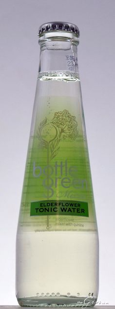 Bottle Green Elderflower Tonic Tonic Water, Gin And Tonic, Gins Of The World, Mineral Water, Elderflower, Glass Bottles, Cleaning Supplies, Cocktails, Green