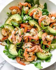 Citrus shrimp and avocado salad! Citrus shrimp and avocado salad! Citrus shrimp and avocado salad! Citrus shrimp and avocado salad! Summer Salad Recipes, Avocado Recipes, Spring Recipes, Summer Salads, Salmon Recipes, Avocado Ideas, Spring Meals, Cabbage Recipes, Mexican Recipes