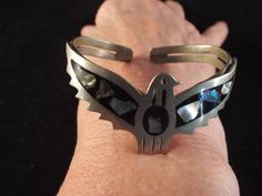 Thunderbird Zuni Native Mexican Cuff with  by Burnedbunnybling