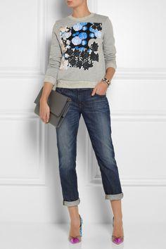 Michael van der Ham|Collage-print cotton-blend jersey sweatshirt|NET-A-PORTER.COM