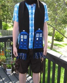TARDIS Inspired scarf by doctormoo on Etsy, $40.00