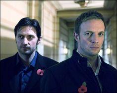 Richard Armitage & Rupert Penry-Jones.  Spooks dudes!