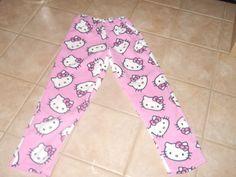 Hello Kitty Fleece PJ Pants Adult Sz Small by CreationsbySpike on Etsy