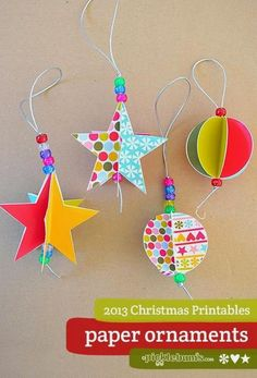 Star and Circle Paper Christmas Decorations - Free Printable. - E Sunny - Star and Circle Paper Christmas Decorations - Free Printable. 2013 Christmas Printables -paper decorations to print and make --- einige gel. Diy Christmas Star, Christmas Paper, Christmas Crafts For Kids, Homemade Christmas, Christmas Projects, Holiday Crafts, Summer Crafts, Fall Crafts, Diy Crafts