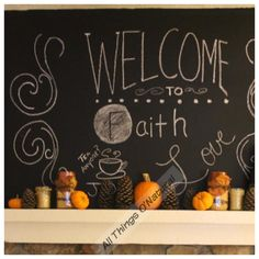 Chalkboard paint and fall decor