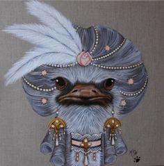 Lama Animal, Art Fantaisiste, Simple Acrylic Paintings, Funny Birds, Bird Artwork, Beautiful Fantasy Art, Art Original, Whimsical Art, Les Oeuvres