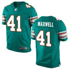 Men's Nike Miami Dolphins #41 Byron Maxwell Elite Aqua Green Alternate NFL Jersey Cardinals Patrick Peterson jersey