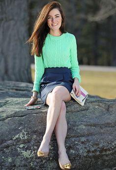 Such a lovely scalloped skirt and color combination!