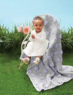Field of Flowers Baby Crochet Blanket