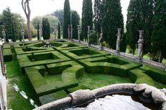 Villa Farnese Garden from stairs