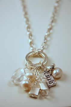 Pretty charms, silver chain